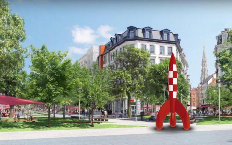 COMM PRESSE | Pourquoi pas une fusée géante de Tintin à Bruxelles pour célébrer ses 90 ans ?