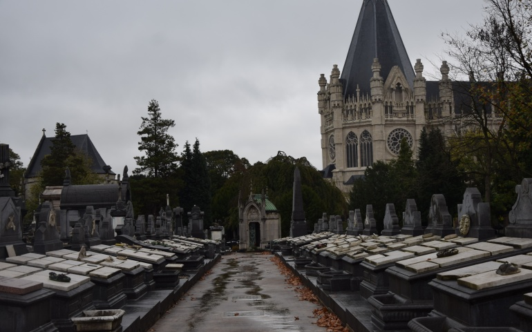 Inauguration des galeries funéraires du cimetière de Laeken